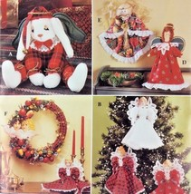 Simplicity Crafts Christmas Angel Tree Topper Wreath Ornaments UNCUT 199... - $9.89