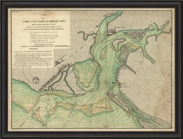 Artwork Early Map of Charles Town BCBL New SC-7... - $949.00