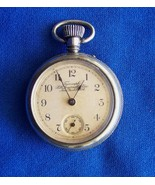 Rare Ingersoll Triumph Rim Wind Skeleton Movement Open Face Pocket Watch  - $375.99