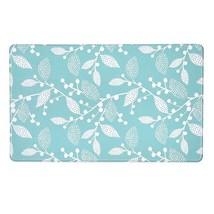 "Northeast Home Goods Blue White Leaves Cushioned Non-Slip Floor Mat 17""L... - $48.99"