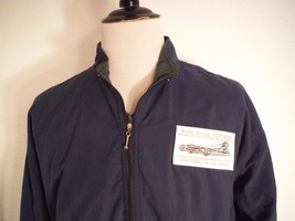 B-17 Flying Fortress Bomber Aircraft Blue 1/2 Zip Windbreaker Mens Size ... - $32.71