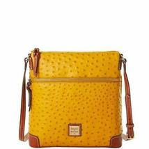 Dooney & Bourke Ostrich Crossbody Saffron Yellow