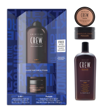 American Crew Duo, Classic Pomade, 3-in-1 Moisturizing Shampoo