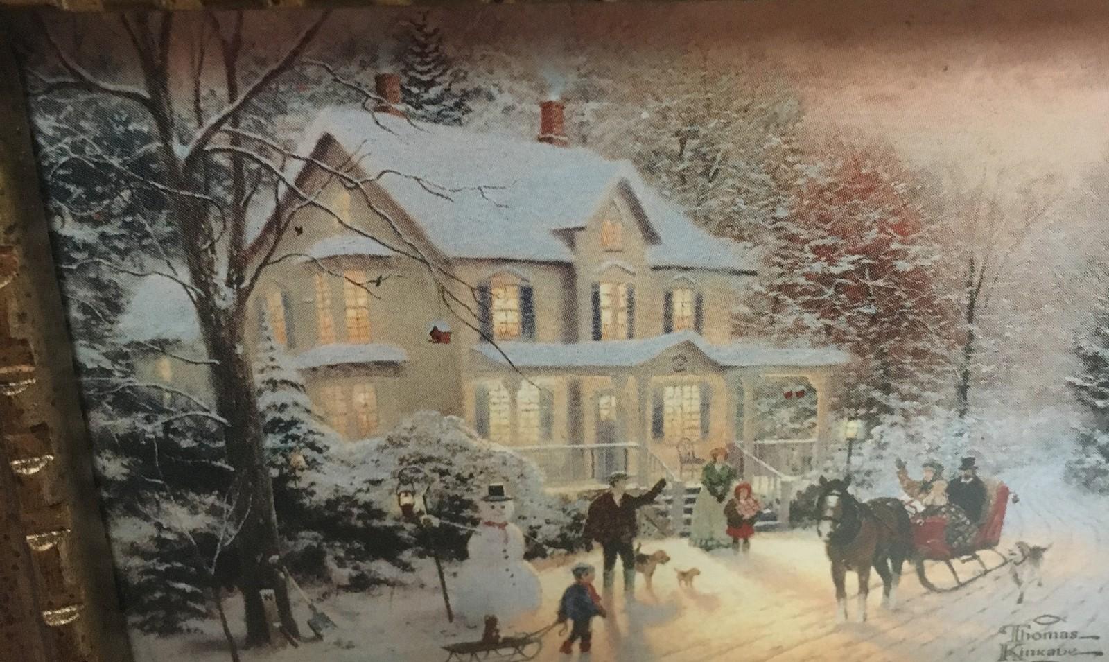 Hallmark 2000 Thomas Kinkade Miniature Framed Art Home For The Holidays