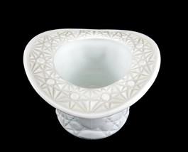 "Fenton Milk Glass Top Hat Vase/Planter, Daisy & Buttons Pattern, 4 1/2"" ... - $12.69"