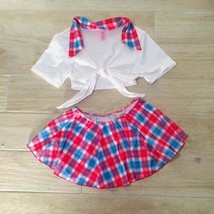 Bang PLAID SEXY SCHOOLGIRL COSTUME Cosplay Intimates Role Play Skirt & Top - £37.68 GBP