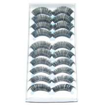 LOT of 100 pairs Clam Curved Makeup False EyeLashes A6 Handmade A+ grade - $36.25