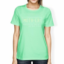 Mother Therapist Womens Mint Cute T-Shirt Unique Mothers Day Gifts - $16.45