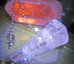 FREE Haunted 27x CLEANSE AURA RELASE NEG MAGICK CRYSTAL PENDULUM Witch C... - $0.00