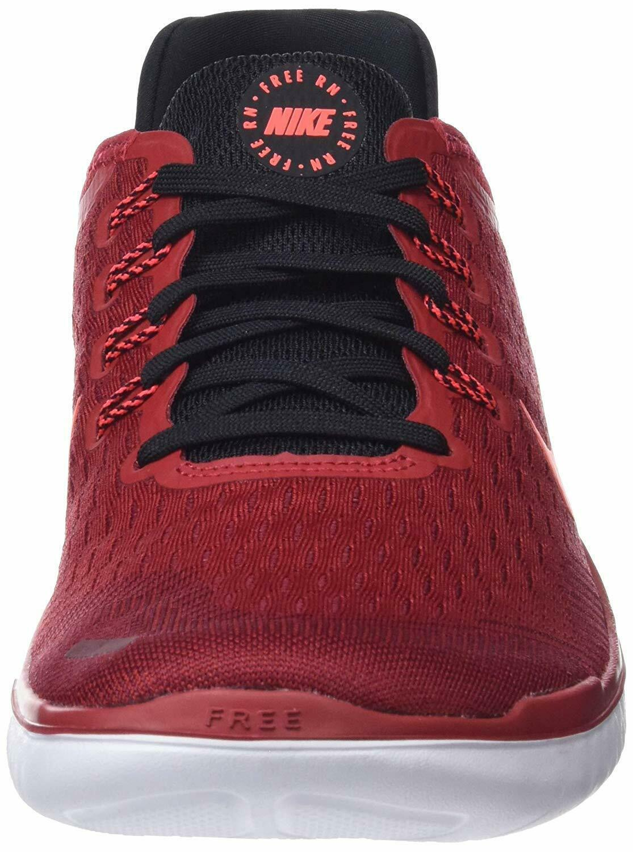 Men's Nike Free RN 2018 Running Shoes, 942836 002 Multi Sizes Gym Red/Crimson/Bl