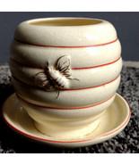 Charming Vintage Noritake Beehive Honey Pot With Under Plate NICE! - $12.00