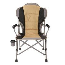 Ultra Padded Bag Chair weather resistant woven poly fabric cup holde Tan... - $56.88