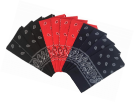 T&Z 100% Polyester 12 Pack Fine Bandanas - $38.99