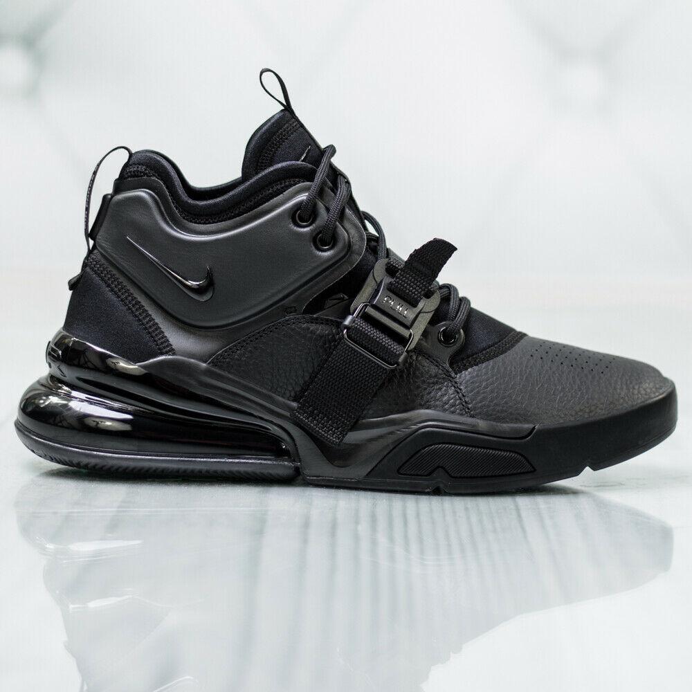separation shoes a85fc 3b45b NIKE AIR FORCE 270 TRIPLE BLACK SIZE 8.5 NEW WTH BOX FAST SHIPPING (AH6772-