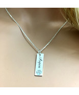 Minimalist Pet Memorial Jewelry Dog Loss Gift Personalized Dog Name Neck... - $30.84+