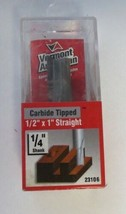 """Vermont American 23106  1/2"""" X 1"""" Straight 1/4"""" Shank Carbide Tipped - $3.32"""