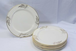 "Lifetime China Prairie Gold Dinner Plates 10.25"" Lot of 6 - $58.79"