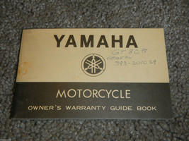 1973-1978 Yamaha Motorcycle Warranty Manual #1 Owner Owners Owner's Manual - $10.30