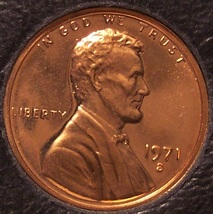 1971-S Proof Lincoln Memorial Penny #0253 - $1.19