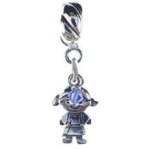 Girl September Sapphire Crystal Birthstone Sterling Silver Dangle Family... - $23.74