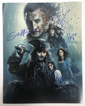 Pirates of the Caribbean Cast Signed Autographed Glossy 11x14 Photo - COA Holos - $299.99