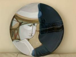 Susana Espinosa Mid-Century Modern Pottery Ceramic Wall Plate - $177.21