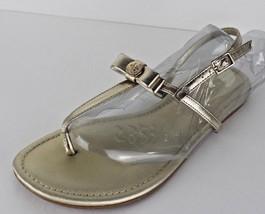 BCBGeneration women's gold sandals flat shoes size 8 B - $13.90