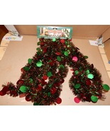 Christmas Garland 12 Feet Youngcraft USA Decorative Accents Shiny Red/Gr... - $7.49