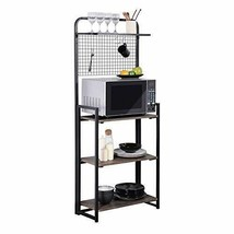 GreenForest Folding Storage Rack 4 Tier Kitchen Baker Rack with Microwave - $137.87
