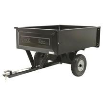 Universal Hitch Trailer Steel Dump Cart Tractor Mower Garden Wheelbarrow... - $150.56