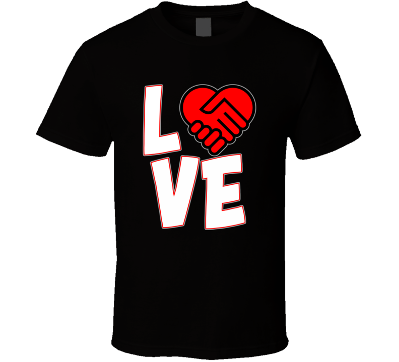 Love Is A Deal Heart  T Shirt