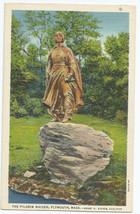 Plymouth MA Mass Pilgrim Maiden Linen Vintage 1934 Postcard - $4.95