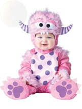Incharacter Baby Girls Lil Monster Costume Pink Small New Free Shipping - $65.78