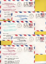 GULFSTREAM II SHUTTLE TRAINING LOT OF 5 COVERS EDWARDS AFB CA LOT# GS2 - $6.15