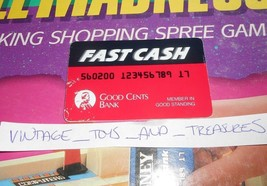 Vintage 1989 Mall Locura de Compras Juego Mesa Repuesto Rojo Tarjeta Crédito - $5.63