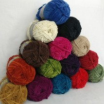Lion Brand Suede Yarn 20 Colors Prints Bulky Weight NOS Chenille Type Yo... - $6.95+