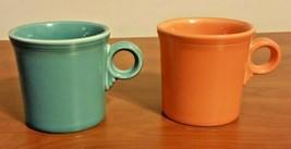 Vintage Orange & Blue Coffee Mugs Fiesta Fiestaware Mug  Homer Laughlin ... - $24.75