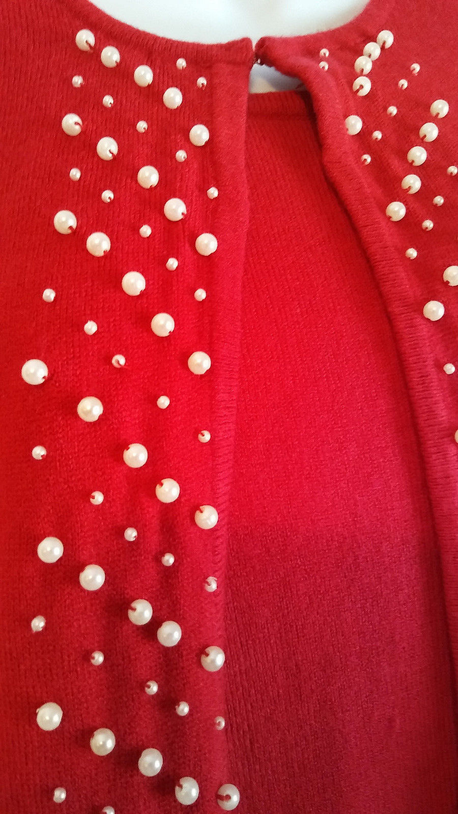 Kim Rogers Mock Layered  RED  Long Sleeve Sweater - SIZE SMALL  NEW WITH TAGS