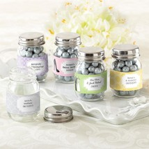 Mini Glass Mason Jar - Wedding (2 Sets of 12) (Available Personalized)  - $39.99