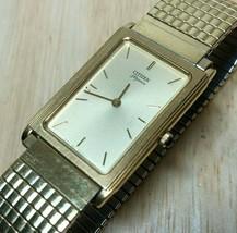 Vintage Citizen Elegance 4621 Men Ultra Thin Analog Quartz Watch Hour~New Batter - $45.59