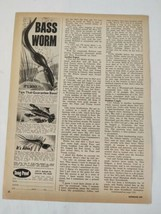 1975 Bass Worm SnagProof Fishing Lure Magazine Original Print Ad Adverti... - $16.81