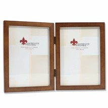Lawrence Frames 766057D Nutmeg Wood Hinged Double Picture Frame, 5 by 7-... - $23.32