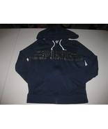 Victorias Secret PINK Size Small Blue Iridescent Logo Long Sleeve Hoodie... - $19.79