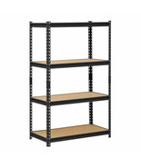 4 Shelf Metal Storage Rack Steel Shelving Adjustable Heavy Duty 36 x 18 ... - $80.09