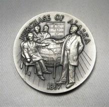 1867 Purchase of Alaska Longines Sterling Silver Medal 1.12Toz AK476 - $38.63