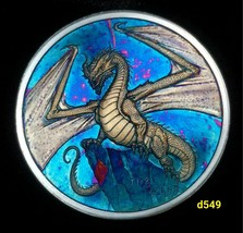 The Welsh Silver Round Coin World of Dragons Rainbow Toned #d549 - $69.00