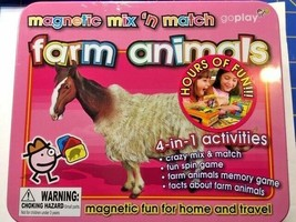 Magnetic Mix & Match - Farm Animals - 4 in 1 Activities Metal Tin  -=NEW=- - $17.05