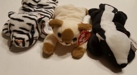 Ty Beanie Baby Toys Stinky 4074 Snip 4120 Blizzard 4163 Retired Lot of 3 - $9.00