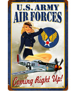 US Army Air Forces Pin-Up Metal Sign - $29.95