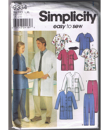 Simplicity 9334 Unisex Medical SCRUBS - Sizes L... - $6.00